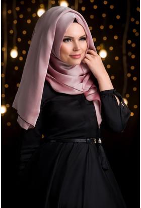 Muslima Wear Şifon Şal Pembe Vizon