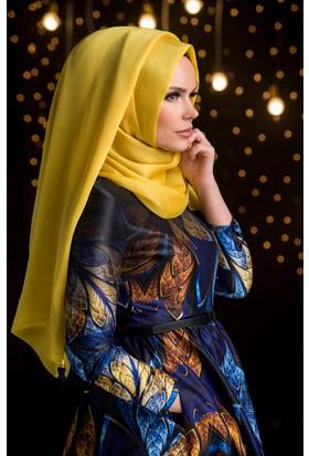 Muslima Wear Şifon Şal Sarı