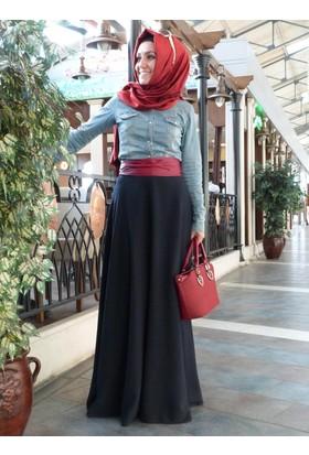 Düz Verev Etek - Lacivert - Pınar Şems