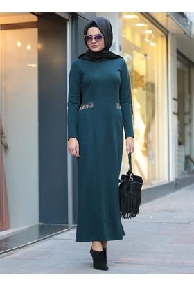 Defne Elbise&Hırka Takım - Yeşil - Lâl By Hilal