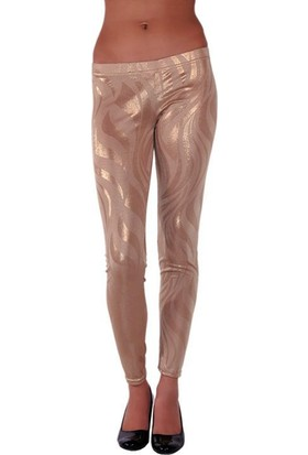 Redhotbest Shiny Abstract Tight - Baskılı Dore Tayt - Rhb101075