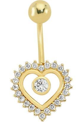 AltınSepeti Altın Kalpli Göbek Piercing AS02PC
