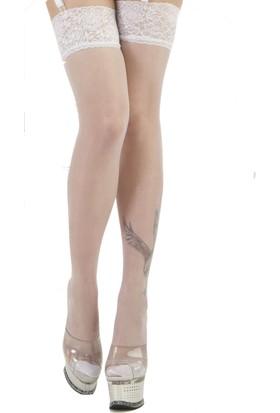 La Blinque Jartiyer Çorabı Silikonlu Dantelli 15 Denye