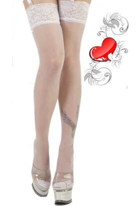 La Blinque File Jartiyer Çorabı Silikonlu Dantelli