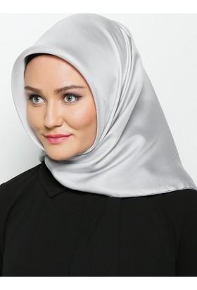 Düz Renkli İpek Eşarp - Gümüş - Balse Eşarp