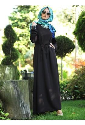 Sade Elbise - Siyah - Melek Aydın