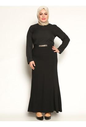 Taşlı Balık Etek - Siyah - Sevilay Giyim