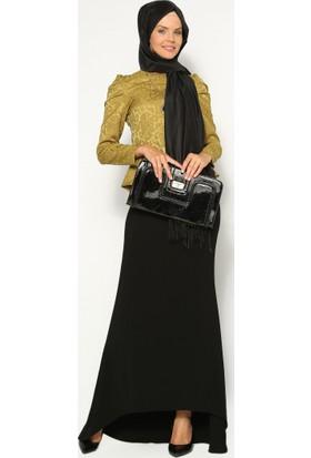 Kuyruklu Balık Etek - Siyah - Sevilay Giyim