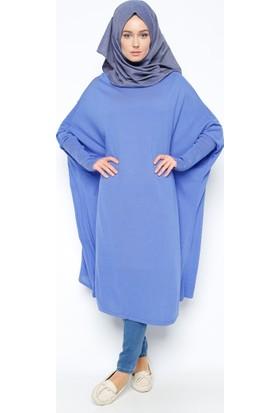Yarasa Kollu Tunik - Saks - Seyhan Fashion