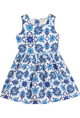 Soobe Oriental Blue Askılı Elbise Lacivert (3-12 Yaş)