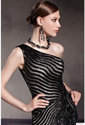 274108a38624c ... Nelida Zebra Desenli Elbise