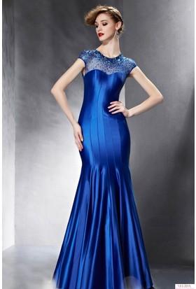 Nelida Robası Boncuk İşlemeli Balık Model Elbise