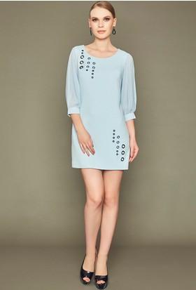 Guitar 16781-Dress Mavi Elbise