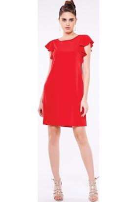 Guitar 1H06-Dress Kırmızı Elbise