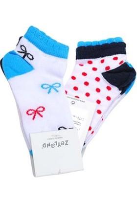 Zeyland Kız Çocuk 2'li Spor Çorap