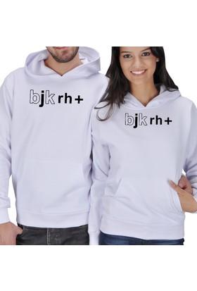 Tisho Bjk Rh+ Baskılı Sevgili Kapüşonlu Sweatshirt