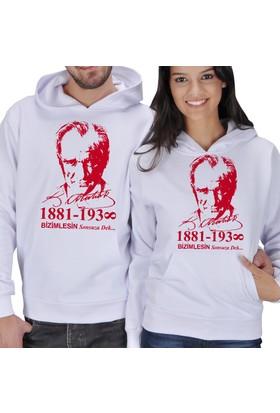 Tisho Atatürk Baskılı Sevgili Kapüşonlu Sweatshirt