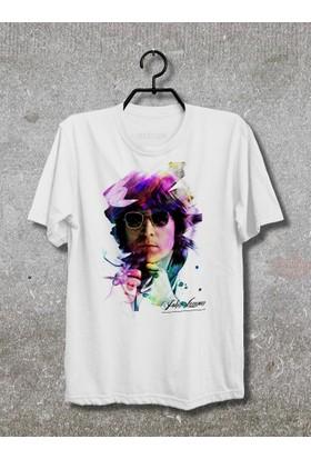 John Lennon T-Shirt (Tişört) No03 (Beyaz, XLarge)
