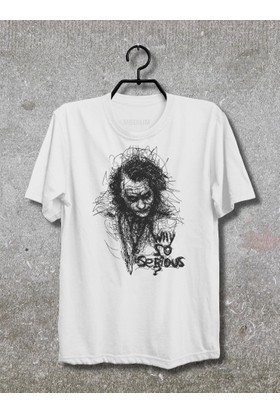 Joker Why So Serious T-Shirt (Tişört) (Beyaz, XLarge)