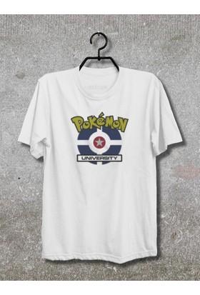 Pokemon University T-Shirt (Tişört) No01 (Beyaz, XLarge)