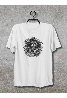 Sons of Anarchy Samcro T-Shirt (Tişört) No05 (Beyaz, XLarge)