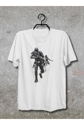 Star Wars Rogue One T-Shirt (Tişört) No02 (Beyaz, XLarge)