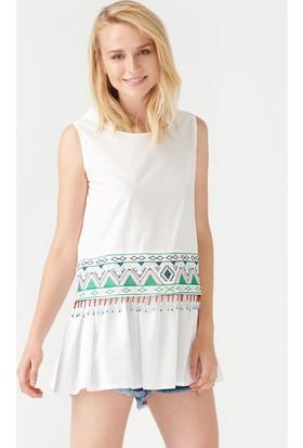 Dilvin 242 Boncuk İşlemeli Mini Elbise