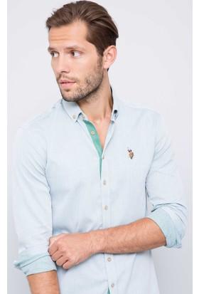 U.S. Polo Assn. Erkek Novaya17K Gömlek Yeşil