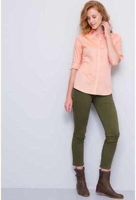 U.S. Polo Assn. Criscolor17K Kadın Dokuma Gömlek Kırmızı