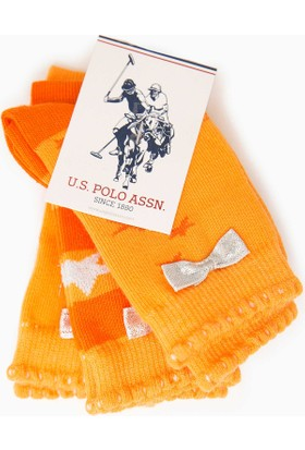 U.S. Polo Assn. Kız Çocuk Starty Çorap Turuncu