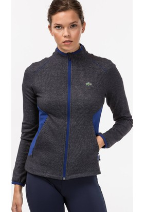 Lacoste Golf Stretch Tech Kadın Gri Sweat-Shirt Sf7972.U3A
