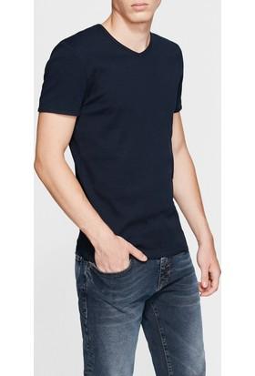 Mavi Erkek V Yaka Lacivert Basic T-Shirt