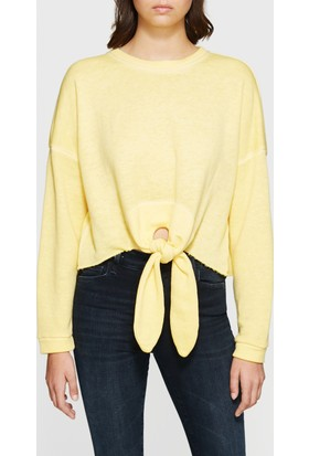 Mavi Kadın Bağlama Detaylı Sarı Sweatshirt
