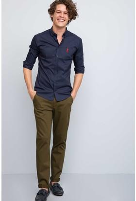 U.S. Polo Assn. Erkek Kenn7S Kot Pantolon Haki