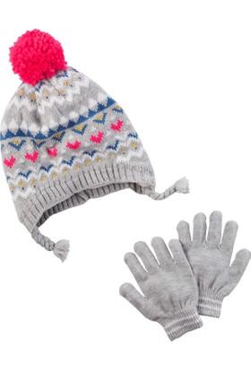 Carter's Kız Çocuk Şapka Eldiven Set D08G366