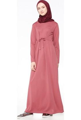 Beli Bağcıklı Elbise - Gül Kurusu - Bwest