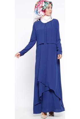 Anvelop Detaylı Elbise - Saks - Nihan