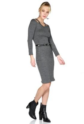 Miss Lusi 7360350 Omuzu Detaylı Uz.Kol Elbise