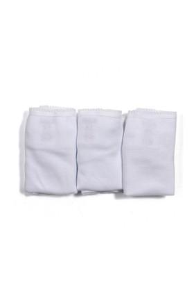 Soobe Kız Garson 3'lü Külot Set Beyaz