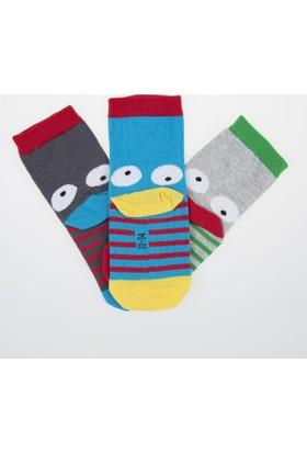 Soobe Erkek Çocuk Çorap 3'lü Mavi