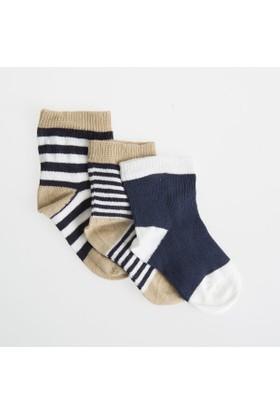 Soobe Erkek Bebek 3'lü Çorap Hardal