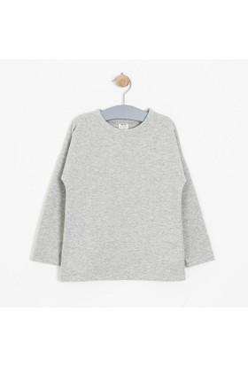 Soobe Kız Çocuk Sweatshirt Açık Gri Melanj