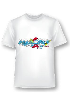 XukX Çocuk Şirinler T-Shirt