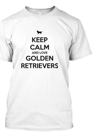 XukX Keep Calm Golden Retriever T-Shirt