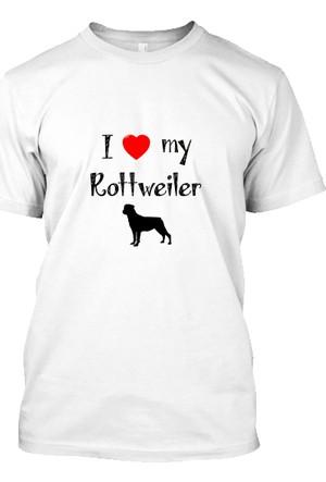 XukX I Love Rottweiler T-Shirt
