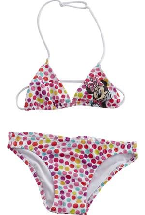 Soobe Lisanslı Disney Minnie Üçgen Bikini Baskılı 15 - 18 Ay