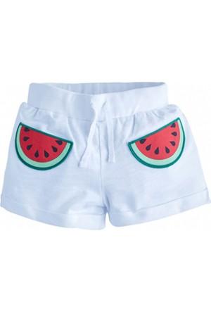 Soobe Watermelon Belden Bağlamalı Şort Beyaz 7 Yaş