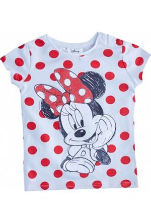 Soobe Lisanslı Disney Minnie Mouse Kısa Kol T-Shirt Beyaz 6 Yaş