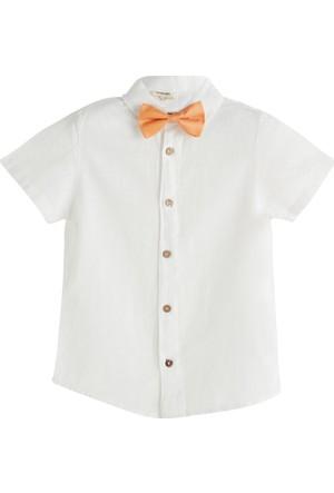 Soobe Italian Style Papyonlu Kısa Kol T-Shirt Beyaz 9 Yaş