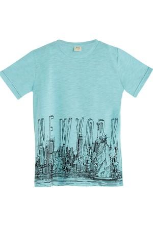 Soobe Pop Boys Newyork Şehir Temalı Kısa Kol T-Shirt Cam Göbeği 5 Yaş